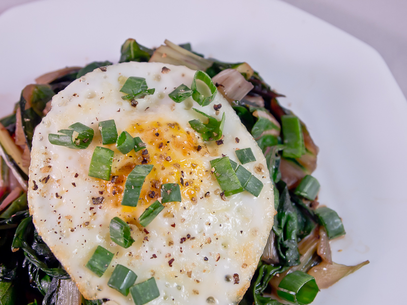 Sautéed Chard and Eggs | Eat Healthy Be Happy