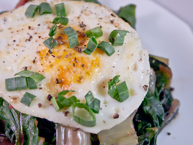Sautéed Chard and Eggs