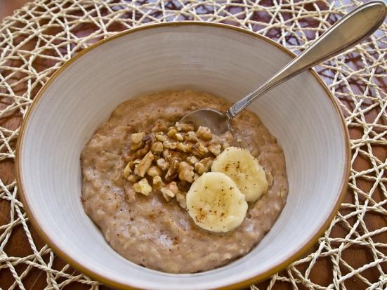 Banana Nut Oatmeal Easy Breakfast