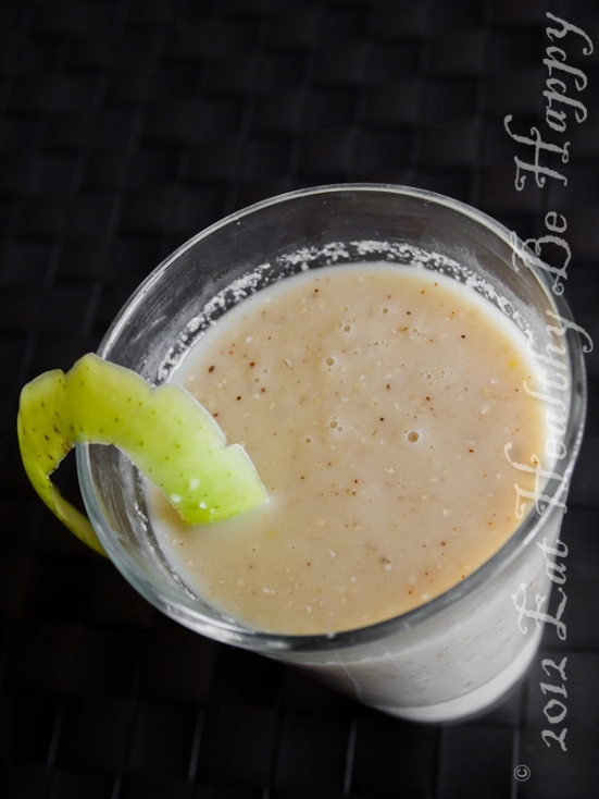 Apple Crisp Smoothie | Eat Healthy Be Happy