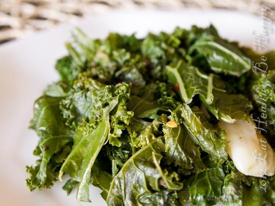 garlic kale smoked salt
