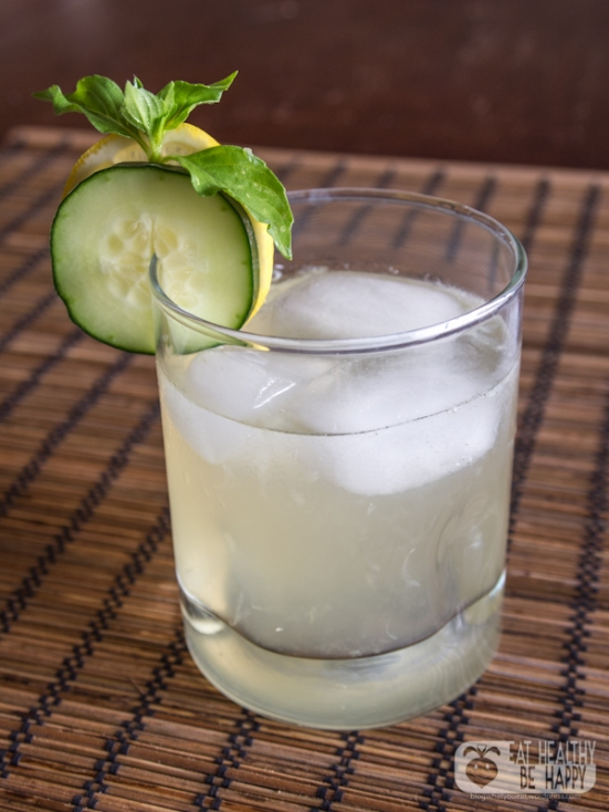 Cucumber and Lemon Basil Lemonade | Eat Healthy Be Happy