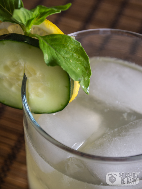 Cucumber and Lemon Basil Lemonade | Eat Healthy Be Happy
