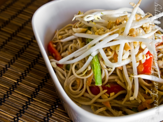 Soba Noodles with Peanut Sauce | Eat Healthy Be Happy
