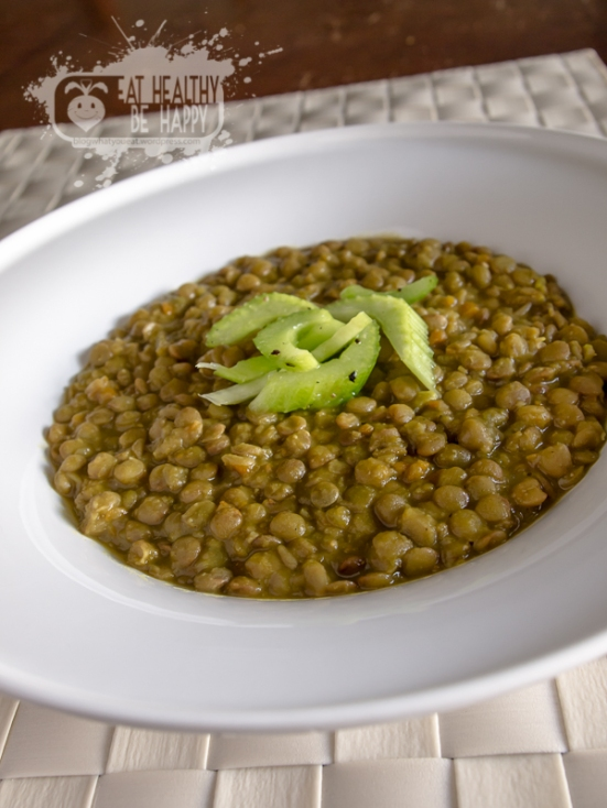 Lentils Daal with Celery Salad   Eat Healthy Be Happy