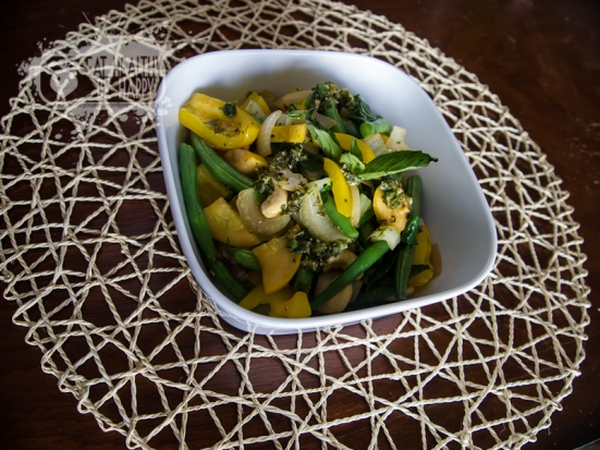 Stir Fry Veggies Vegetables with Ginger Basil Dressing | Eat Healthy Be Happy