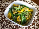 Stir Fry Veggies with Ginger Basil Dressing